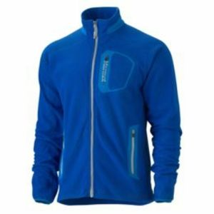 Marmot Men's Alpinist Tech Fleece Jacket Blue